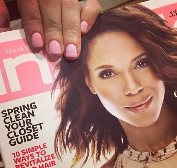 I don't always match my manicure to my magazines....but...